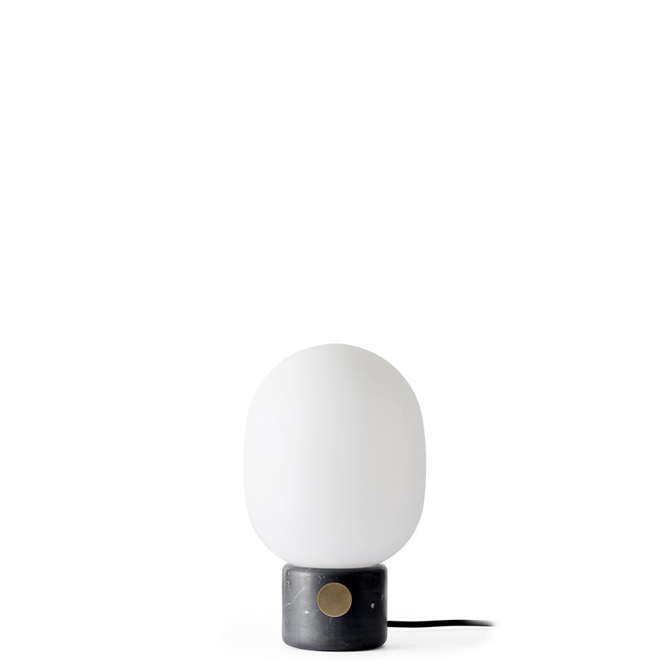 JWDA Table Lamp von Menu. Tischleuchte aus Marmor und Glas in der Farbe Schwarz