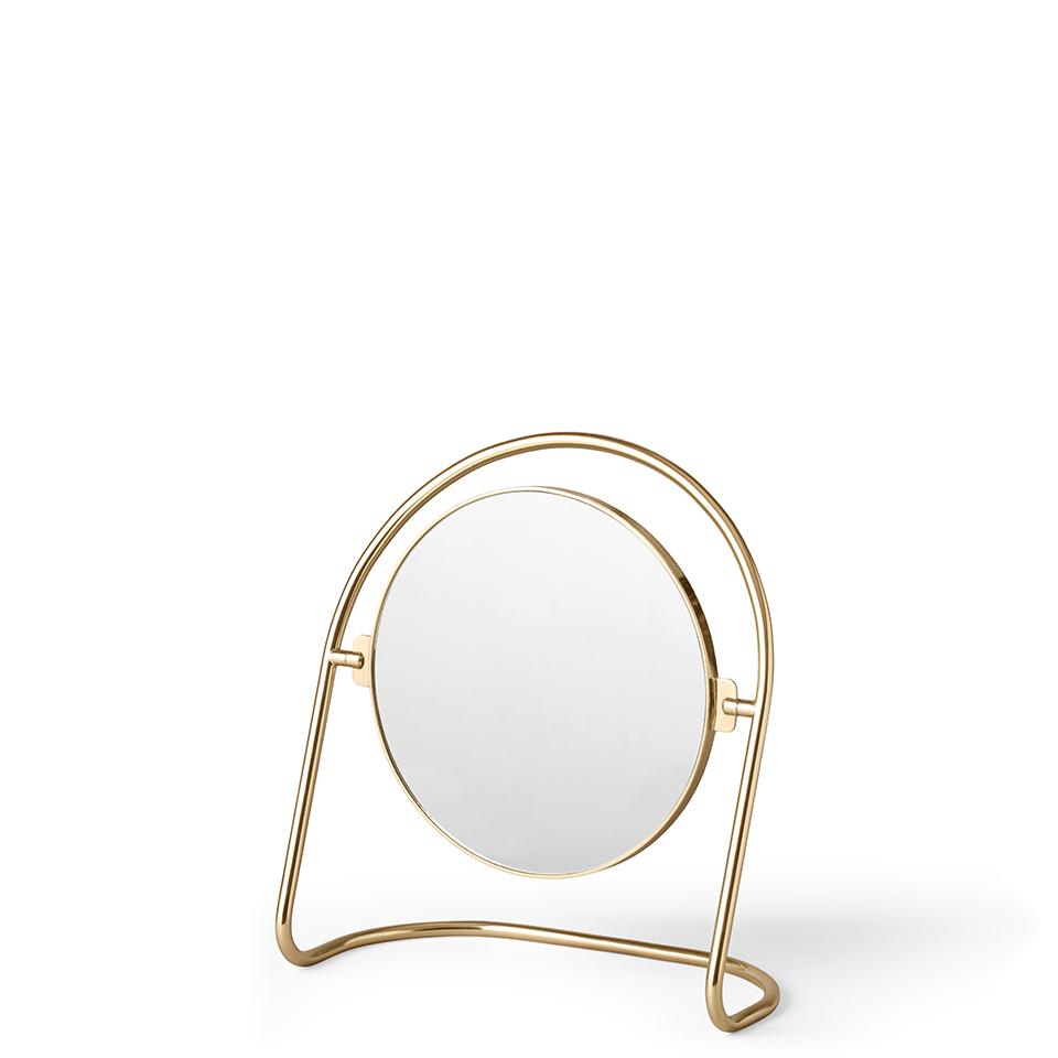 Nimbus Table Mirror von Menu. Tischspiegel aus Messing in der Farbe Messing