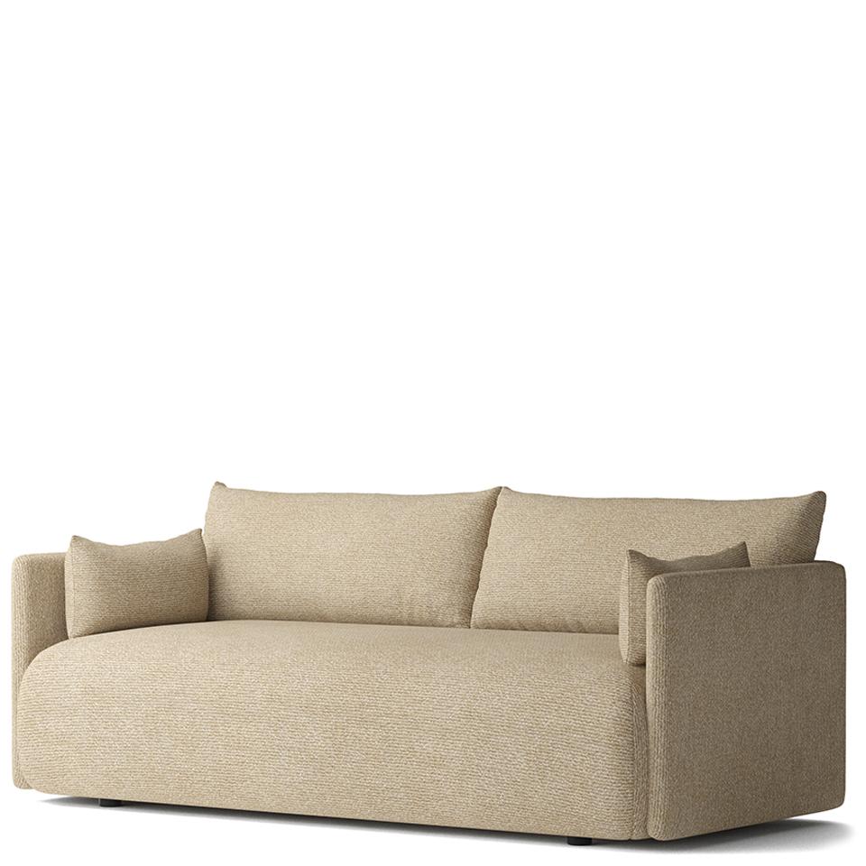 Offset von Menu. Sofa bezogen in Stoff in der Farbe Beige