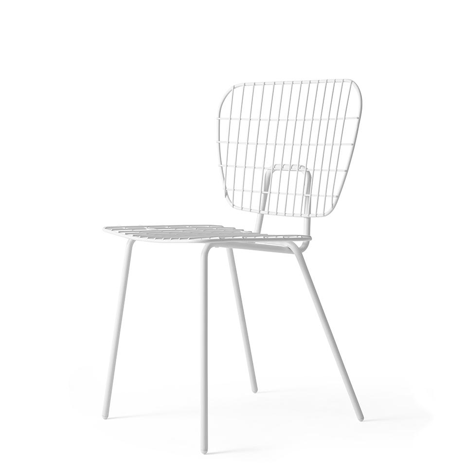 WM String Chair von Menu. Stuhl aus Stahl in der Farbe Weiß