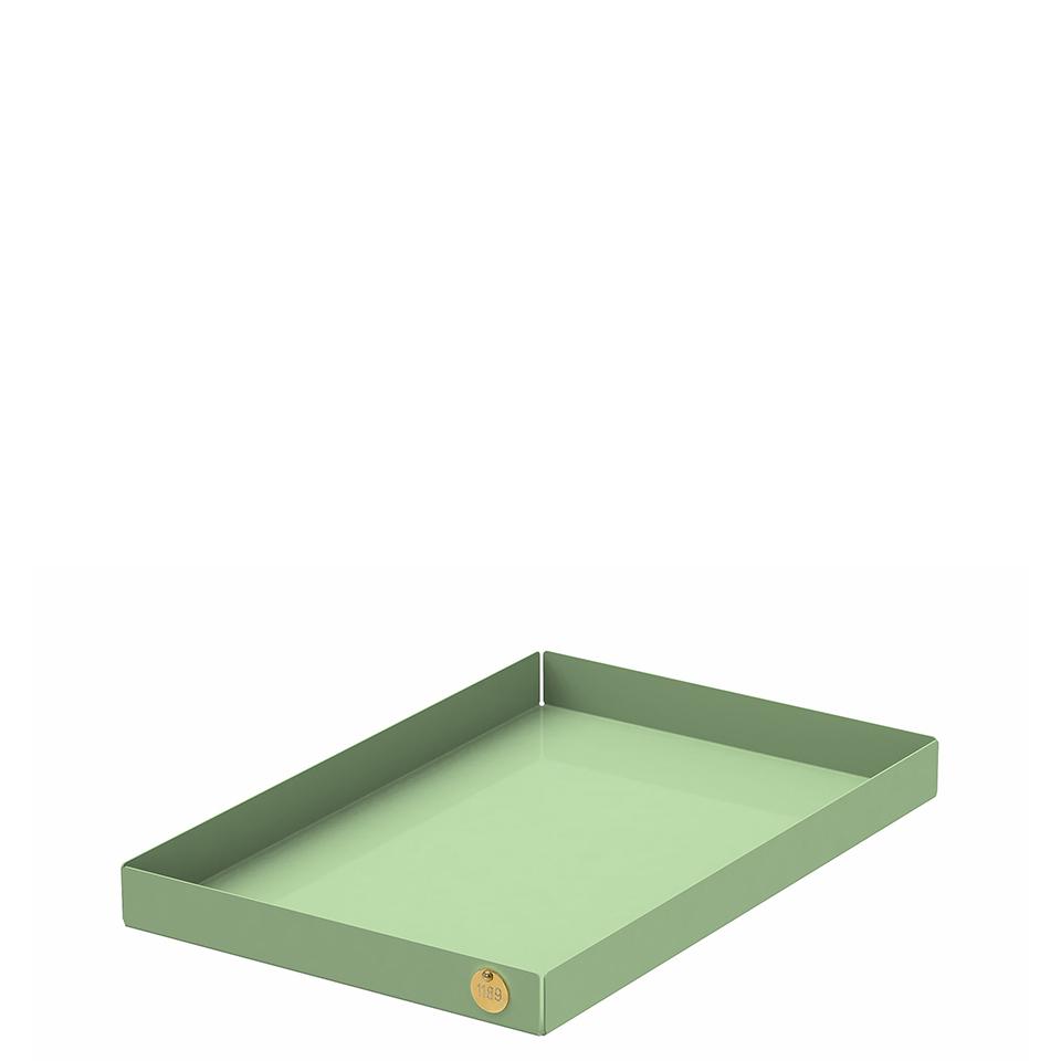 POI L von Victor Foxtrot. Ablage aus Stahl in der Farbe Lindgrün