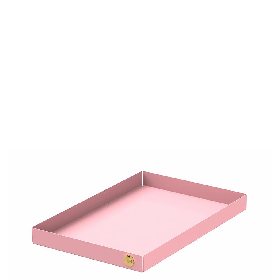 POI L von Victor Foxtrot. Ablage aus Stahl in der Farbe Rosa