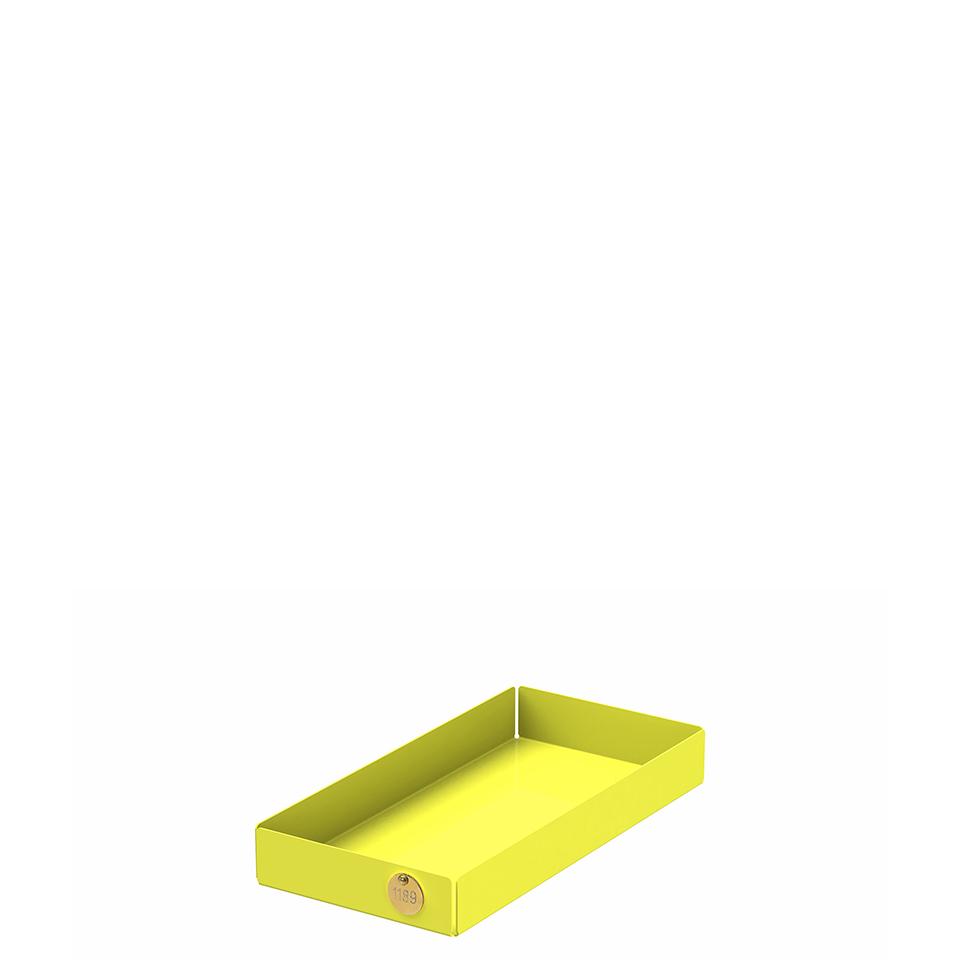 POI M von Victor Foxtrot. Ablage aus Stahl in der Farbe Gelb