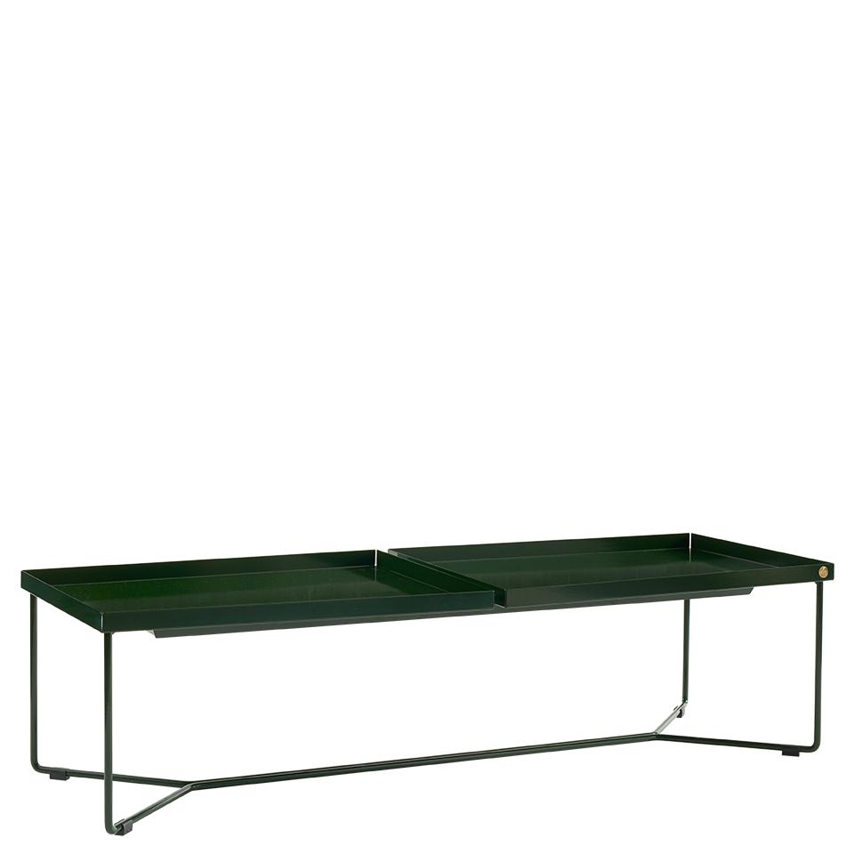 POI Table Double von Victor Foxtrot. Beistelltisch aus Stahl in der Farbe Dunkelgrün
