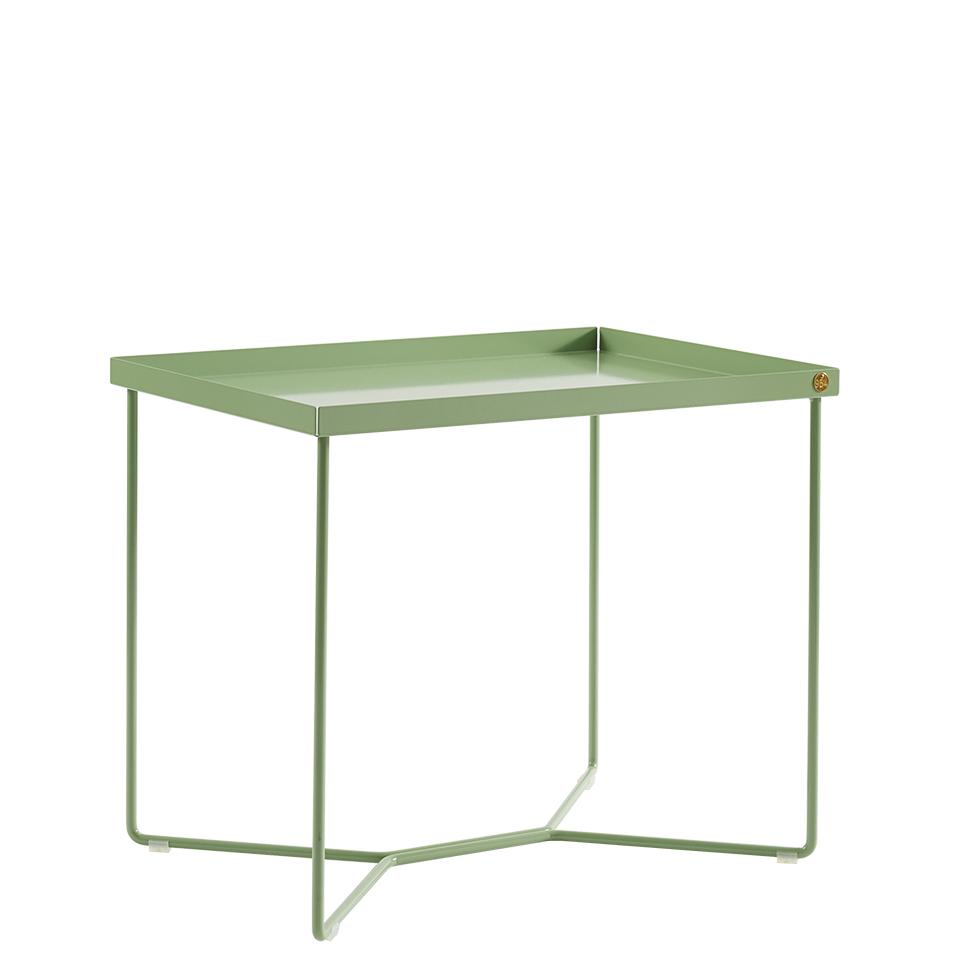 POI Table Single von Victor Foxtrot. Beistelltisch aus Stahl in der Farbe Lindgrün