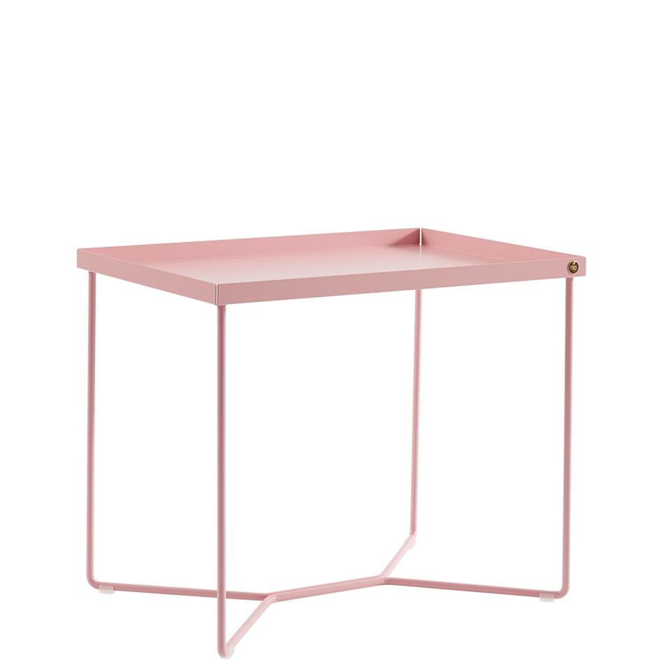 POI Table Single von Victor Foxtrot. Beistelltisch aus Stahl in der Farbe Rosa
