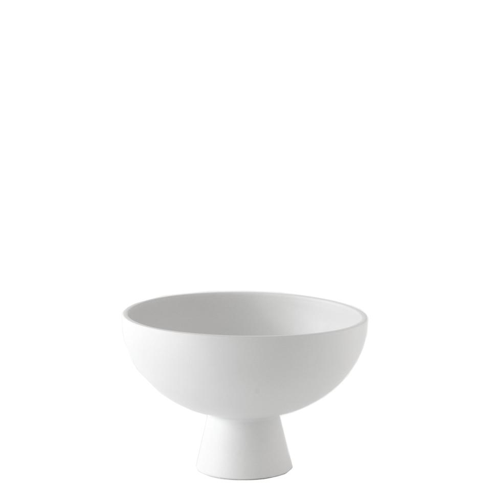 Strom vase von Raawii. Schale aus Steingut in der Farbe Weiss