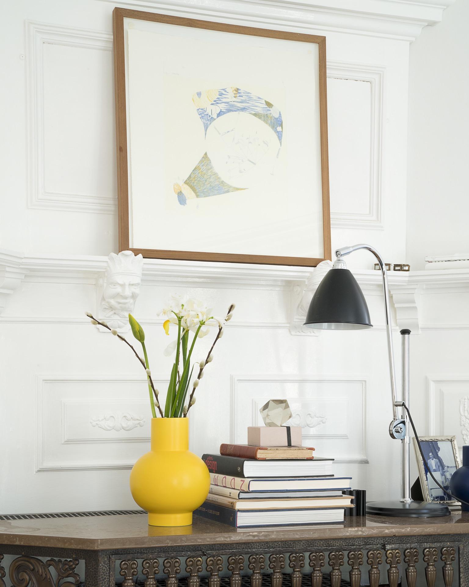 Strøm Vase L Gelb
