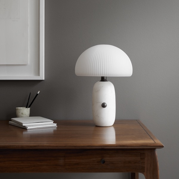 Sculpture Table Lamp, Small, White